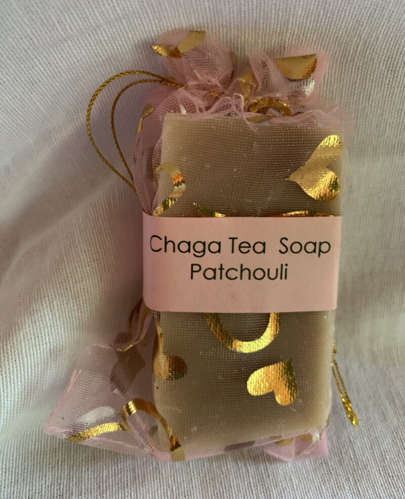 Chaga tea soap with patchouli
